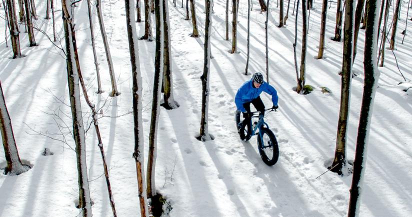 Fat bike dans la neige