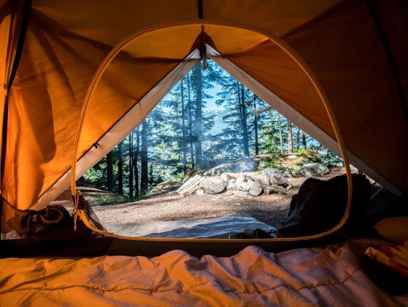 Camping dans la nature