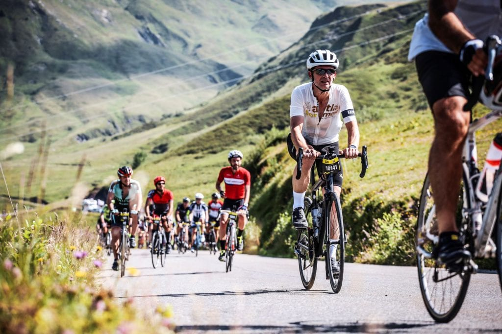 Coureur cycliste AFM étape montagne