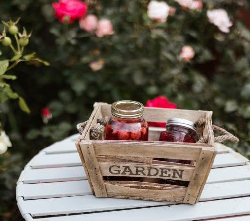 Panier du jardin en conserve