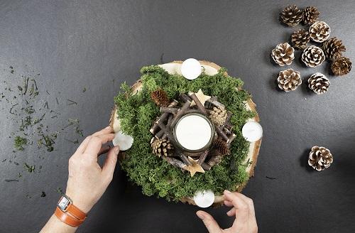 DIY centre de table vegetal