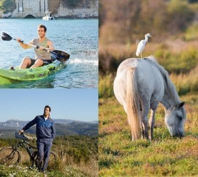 canoe randonnée chevaux camargue