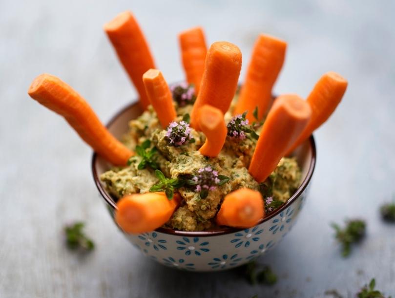 houmous fanes de carottes
